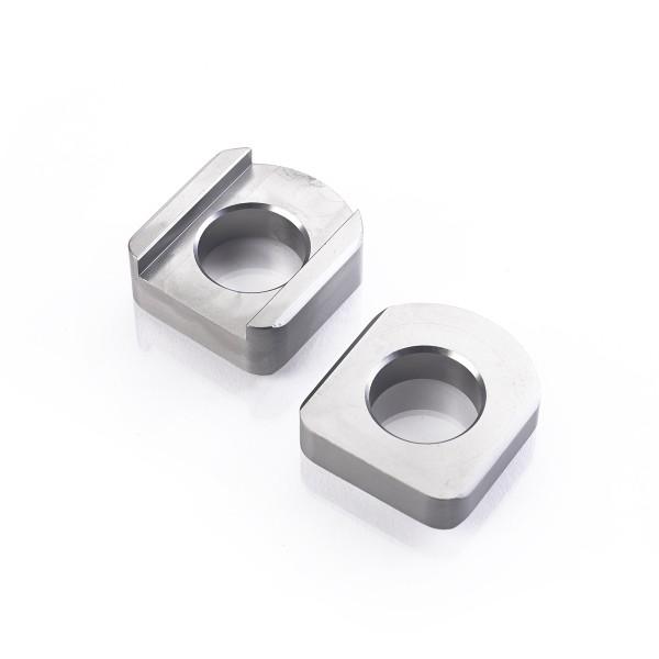 CNC gefräßter Kettenspanner in grau für Triumph Bonneville T100