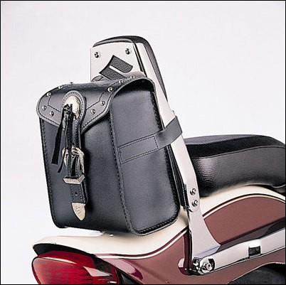 Leder Tasche für Sissy-Bar für Suzuki M800 BJ. 2005-2006/ VL1500 BJ. 2005-2007/ VL1500 BJ. 1998-2004