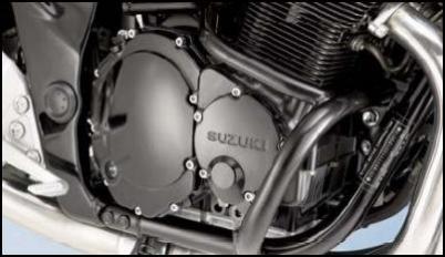 Motorschutzbügel, Schwarz für Suzuki GSF650 BJ. 2005-2006