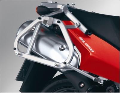 Seitenkofferträger, Silber für Suzuki V-Strom 650 BJ. 2009-2011/ V-Strom 650 BJ. 2004-2008